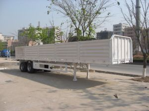 40 Feet 2 Axles Cargo Drop Side Semi Trailer pictures & photos