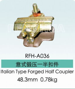 Italian Type Forged Half Coupler (RFH-A036) pictures & photos