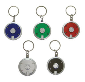 Circular Shaped Keyring With LED Flash Light (ZS-960)