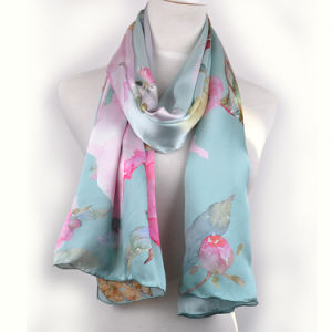 Digital Printed Silk Scarf (13-BR110303-7) pictures & photos