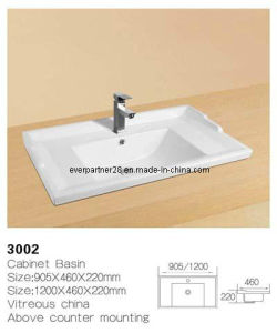 Bathroom Ceramic Washbasin, Ceramic Cabinet Wash Sinks pictures & photos