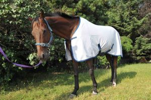 Summer Ripstop Poly Cotton Horse Rug 5′0-7′0 (NEW-07) White/Grey pictures & photos
