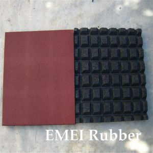 China Square Rubber Flooring Outdoor Playground Rubber