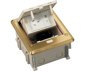 Raised Access Floor Box with Side Mounting Sockets Like Power Receptacle Resistered Jack pictures & photos