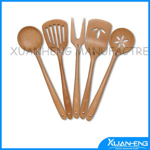 Wooden Kitchen Spoon Set with Laser Logo pictures & photos