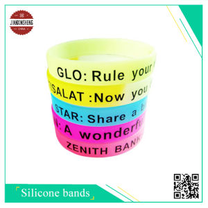 Customized Silicone Wristband with Silk-Screen Printing pictures & photos