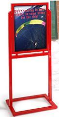 Red Poster Stand (PS-A-0051)
