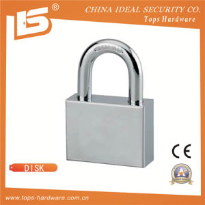 Steel Square Padlock Disc Cylinder Mechanism Double Locking - Disk pictures & photos