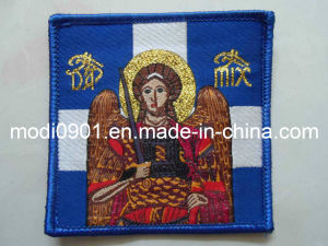 Custom Sew Woven Labels Clothing Professional Clothing Label Manufacturer Knitted Emblem- Satin Label pictures & photos