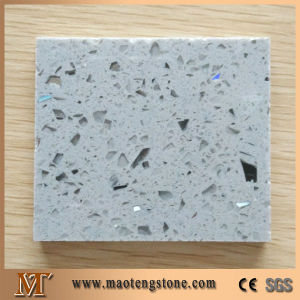 Light Grey Engineer Quartz Elegant Slab for Countertop pictures & photos