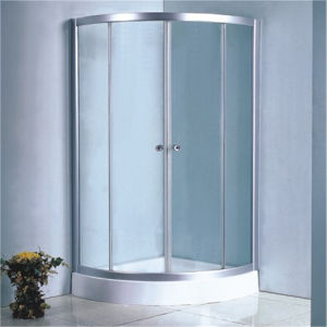 Bathroom Simple Round Glass Chrome Frame Shower Enclosure Room pictures & photos