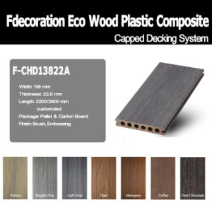 Wood Textured Co-Extrusion Composite WPC Decking pictures & photos