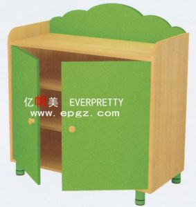 Modern Public Kids Bookshelf, with 2 Doors Cheap Wooden Bookcases, Kids Toy Storge pictures & photos