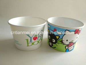 Ice Cream Cup, 16oz Cups for Cold Food, Yogurt Paper Cap pictures & photos