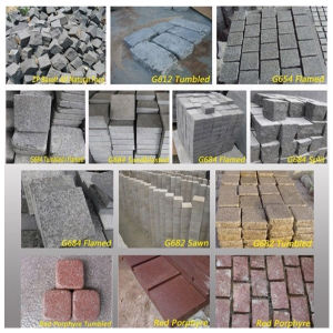 Natural Basalt Granite Cube / Cobble Paving Stone for Garden / Driveway pictures & photos