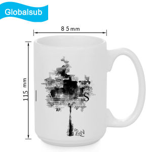 Wholesale White Coated Mug for Creative Design Printing 15oz pictures & photos