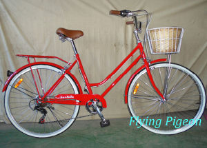 700c Two Basket Lady Bike Bicycle (FP-LD118) pictures & photos