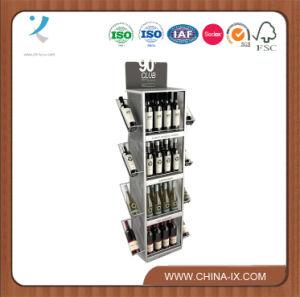 OEM Custom Design Floor Wine Bottle Stand for Wine Store pictures & photos