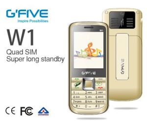 Gfive W1 Bar Phone High Quality with 4 SIM Card and Big Battery Available for SKD Shipment Ce Bis Certificated