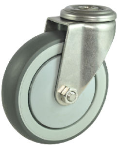 Stainless Steel TPR Caster Wheel (MC-A-100-DAG)