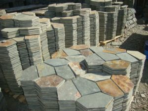 Rusty Slate Flagstone Tile on Mesh (SSS-51) pictures & photos