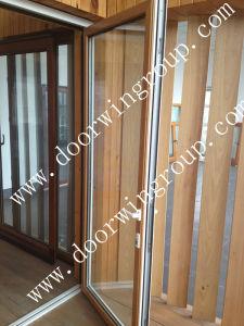 Solid Teak Wood Aluminium French Door pictures & photos