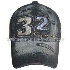 Washed Discharge Printing Embroidery Twill Sport Baseball Cap (TRB02755) pictures & photos