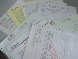 Carbonless Bank and Insurance Documents