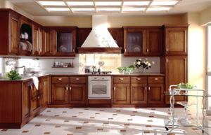 Red Cherry Solid Wood Kitchen Cabinets pictures & photos