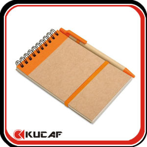 64k Size Kraft Cover Spiral Notebook pictures & photos