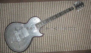OEM Carved Real Aluminium Plate Body Top Electric Guitar pictures & photos