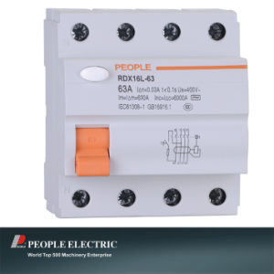 Residual Current Circuit Breaker Electromagnetic Type 4p Rdx16L-63 pictures & photos