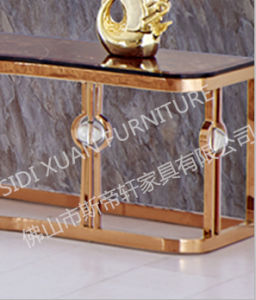 TV Stand Gold Plating Luxury Design Cabinet for Sale pictures & photos