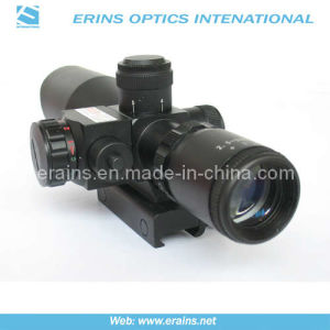 Mini 2.5-10X40 Tactical Compact Rifle Scope with Red Laser Sight pictures & photos