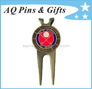 Custom Golf Divot Tool in Antique with Ball Marker (golf-10) pictures & photos