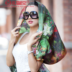 Digital Printed Silk Shawl pictures & photos