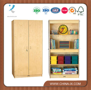 Childrens Vertical Storage Cabinets with Safety Hinges pictures & photos