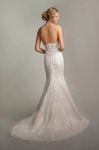 Sexy Strapless Sweetheart Neckline Trumpet Wedding Dress with Open Back pictures & photos