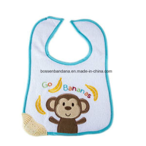 Factory Produce Custom Design Embroidered Cotton White Infant Bibs pictures & photos