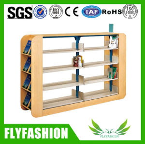 Wooden Double Face Library Bookshelf Library Furniture (ST-19) pictures & photos