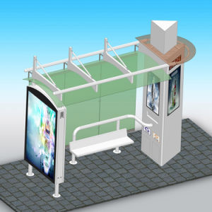Advertising Bus Stop Shelter with Light Box pictures & photos