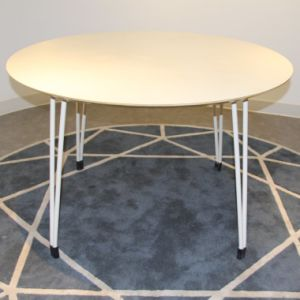 Modern Style No Fold Round Dining Table pictures & photos