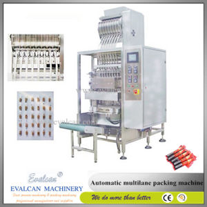 Automatic Sachet Moisture Cream Ketchup Honey Peanut Butter Liquid Body Lotion Pouch Filling Packing Machine pictures & photos