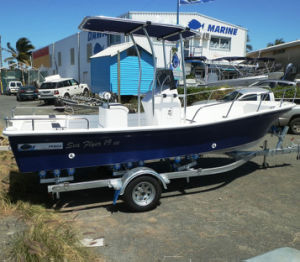 Liya 19FT/5.8m Fiberglass Hull Fishing Boat with Outboard Motor pictures & photos