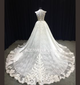 Aoliweiya 2017 New Arrival Design Elegant Lace Wedding Dress pictures & photos