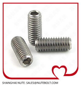 Stainless Steel 304 316 Hexagon Socket Set Screws with Flat Point DIN 913-1980 pictures & photos