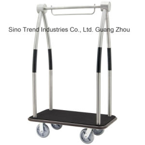 304# Stainless Steel Luggage/Bellman Cart for Hotel Lobby (SITTY 92.2114AB) pictures & photos