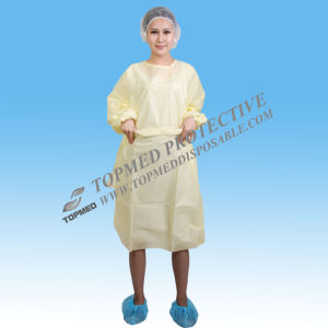 Disposable Nonwoven Reinforced Surgical Gown with Sterile Gown pictures & photos