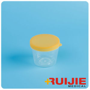Disposable PP Material Hospital 30ml White Urine Container pictures & photos