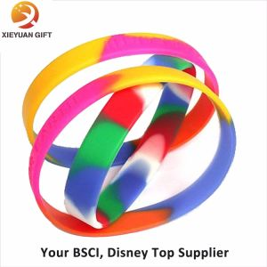 Eco-Friendly Silicone Bracelet Emboss and Color Filled (XY-MXL72903) pictures & photos